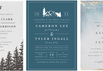 Our Favorite Winter Wedding Invitations from Minted
