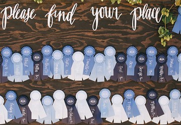 7 Personalized Escort Card Display Ideas