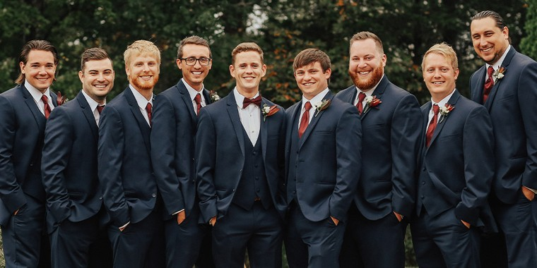 Groom & Groomsmen wearing Generation Tux
