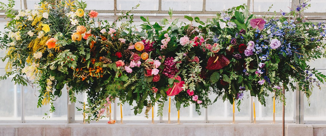 Wedding Design Ideas for a Rainbow Color Palette