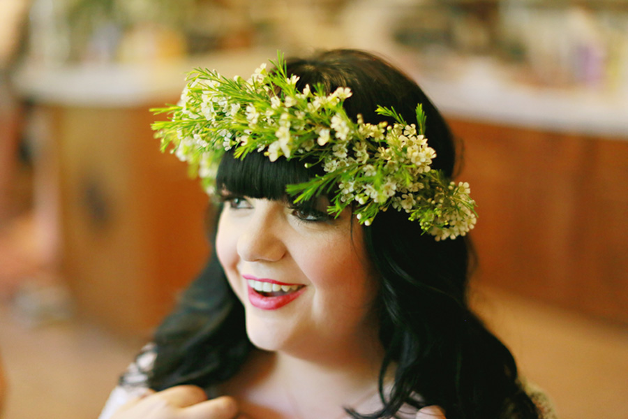Modern boho flower crown