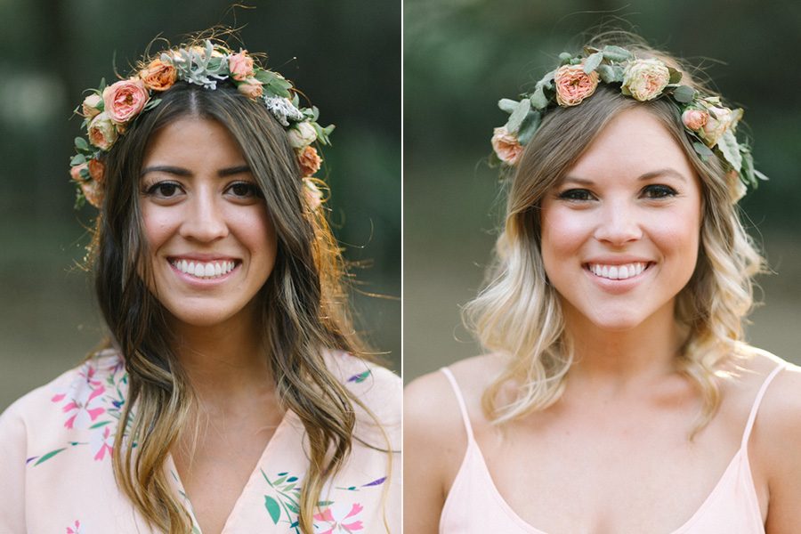 Ultra-romantic flower crowns