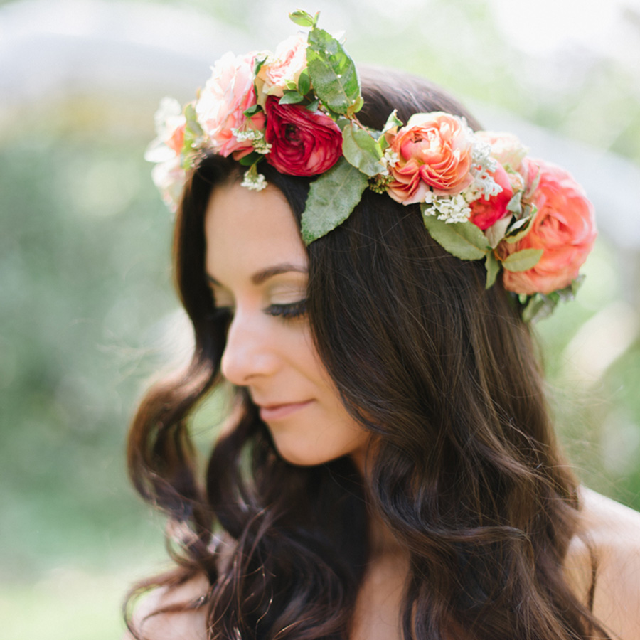 Bold & elegant flower crown
