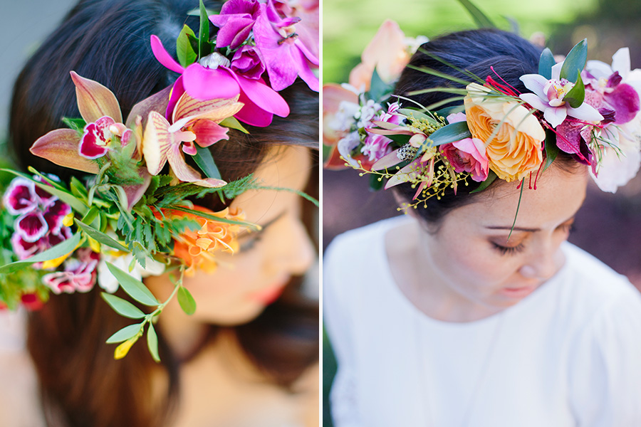 Tropical flower crowns