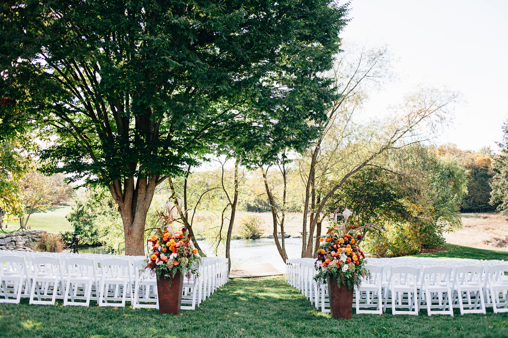 Outdoor ceremony under large tree