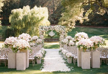 Over-the-Top Floral Wedding Arch