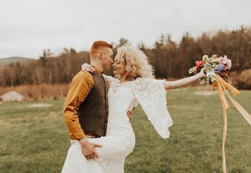 Groovy & Retro Elopement at Monadnock Berries