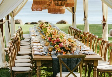 Citrus & Blue Hued Bohemian Maui Wedding