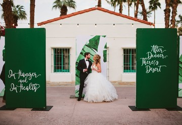 Playful Palm Springs Wedding from LB Events