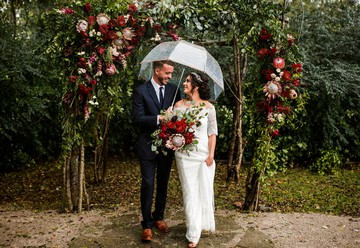 Rainy Day Wedding at Meadow Hill Farm