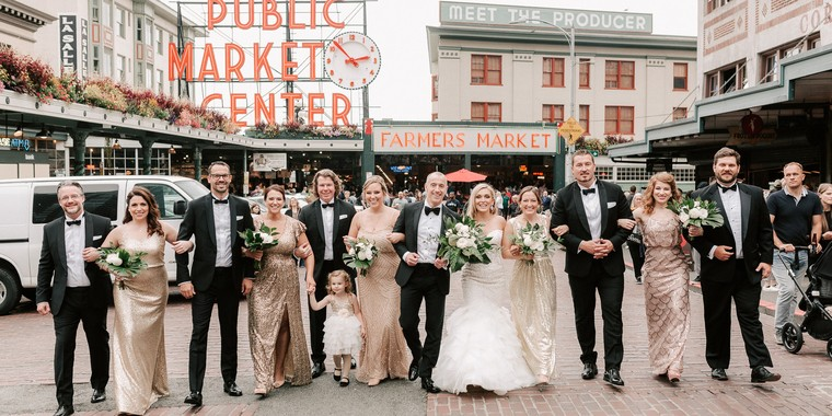 Decadent Downtown Seattle Wedding