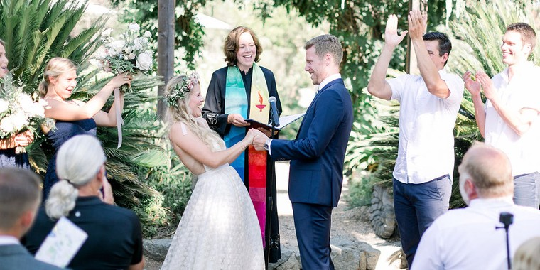 Casual Backyard Wedding in Ramona, California